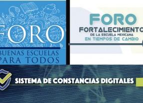 Descarga de Constancias Digitales Foros CdMx y Cancún