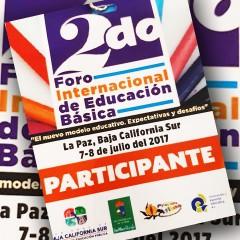 Ciclo de conferencias en el marco del Foro Internacional de Educación Básica, Baja California Sur.